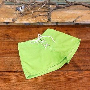 Vintage OP Lace Up Corduroy Shorts